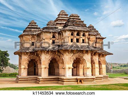 Stock Photo of Lotus Mahal k11453534.