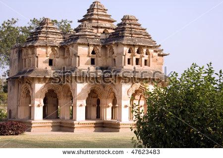 Lotus Mahal Of Zanana Enclosure At Ancient Town Hampi, Karnataka.