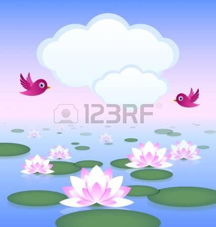 1,419 Lotus Pond Stock Illustrations, Cliparts And Royalty Free.