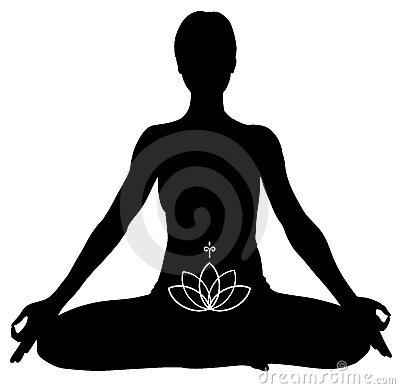 lotus position clipart #11