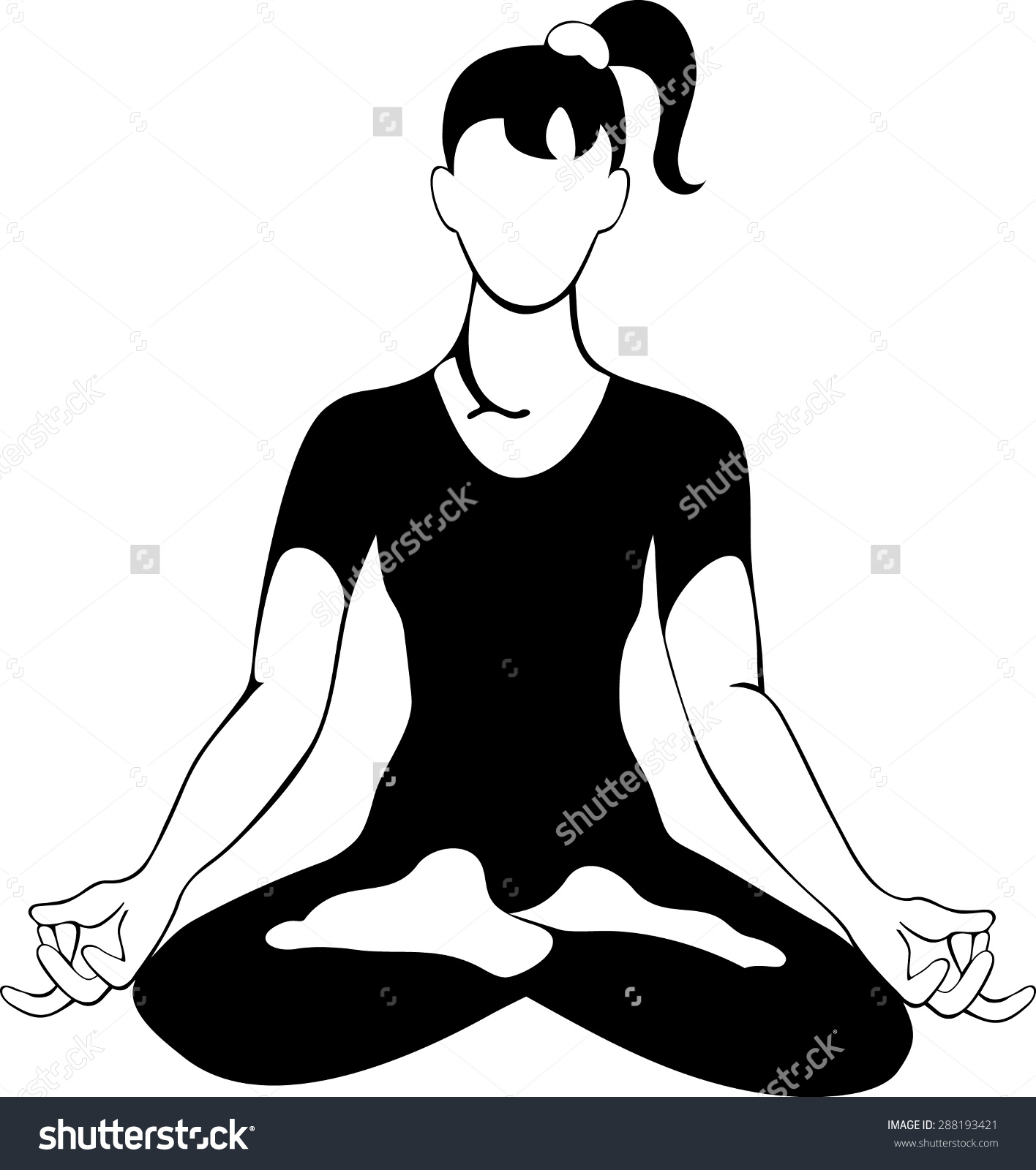 lotus position clipart #3