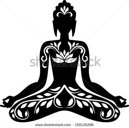 lotus position clipart #8