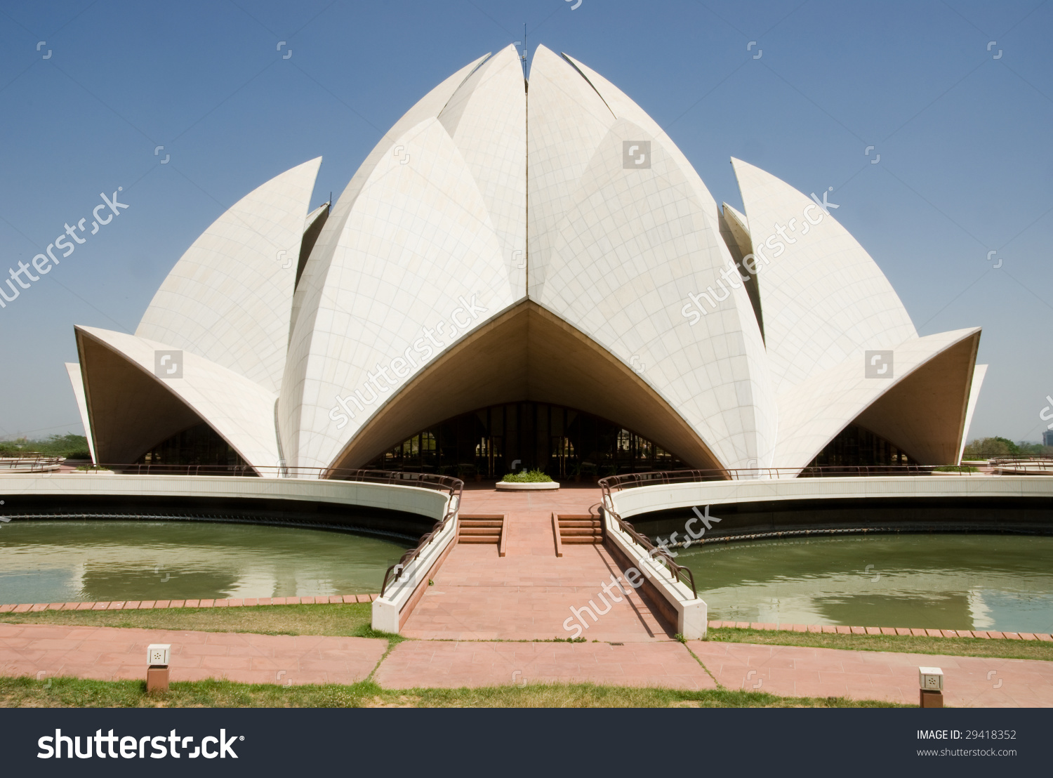 Lotus Temple New Delhi India Stock Photo 29418352.