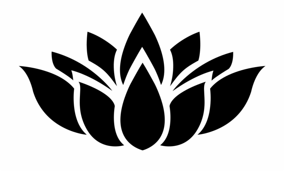 Lotus Flower Silhouette.
