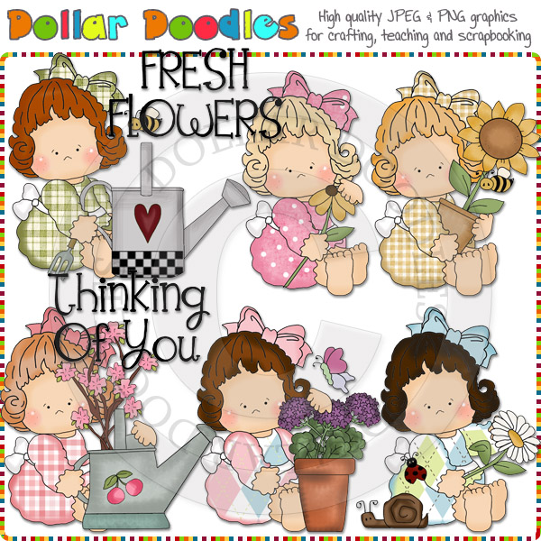 Betty Lou Thinking Of You Clip Art Download [RS98590].