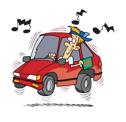 Loud Car Radio Clipart.