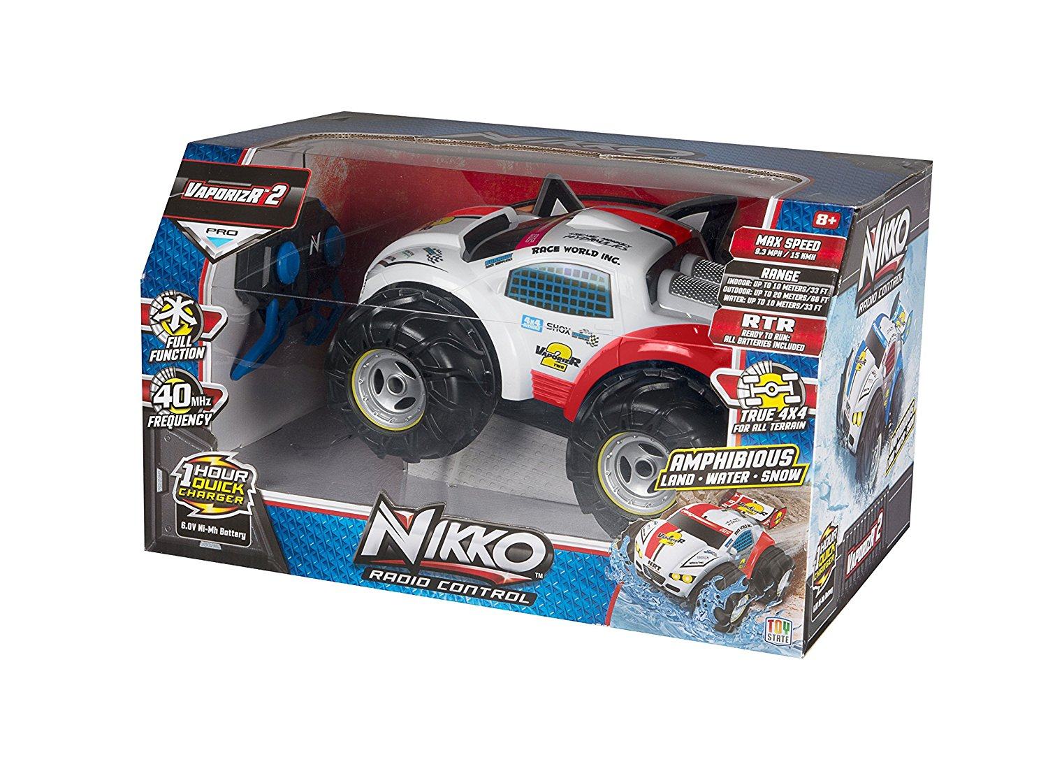 Amazon.com: Toy State Nikko VaporizR 2 Red Radio Control Vehicle.