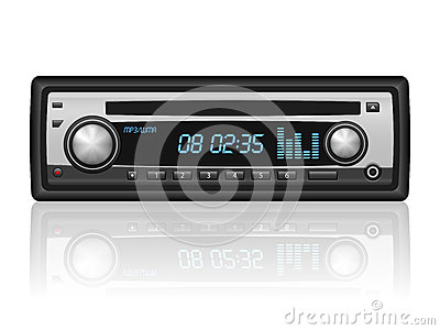 Car Radio Volume Stock Illustrations.