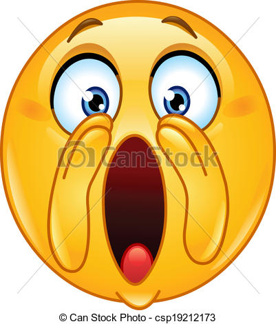 Vectors Illustration of Shouting loud emoticon.