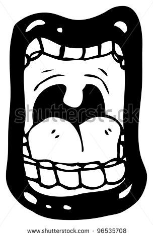 Loud Mouth Clip Art.