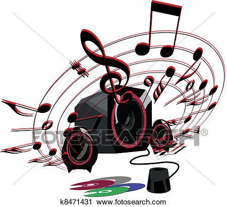 Loud music Clipart.