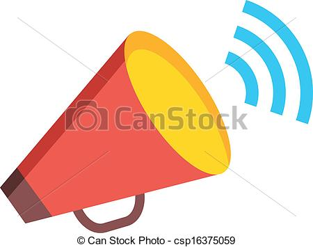 Clipart Vector of Vector Loudspeaker Icon.