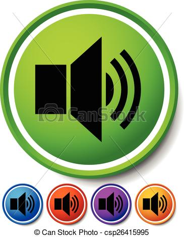 EPS Vectors of Speaker, notification icons. Speaker, Alarm Icon.