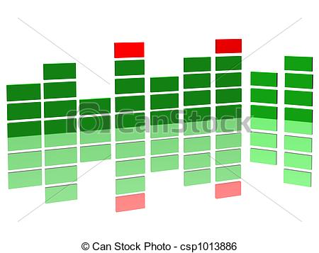 Stock Illustration of sound level.