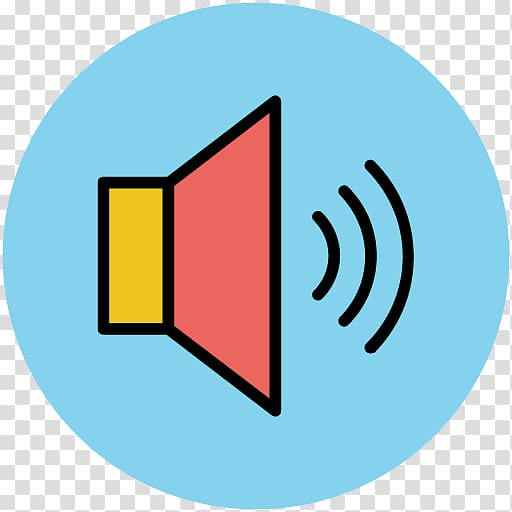 Loudspeaker Symbol Icon, Speaker icon transparent background.