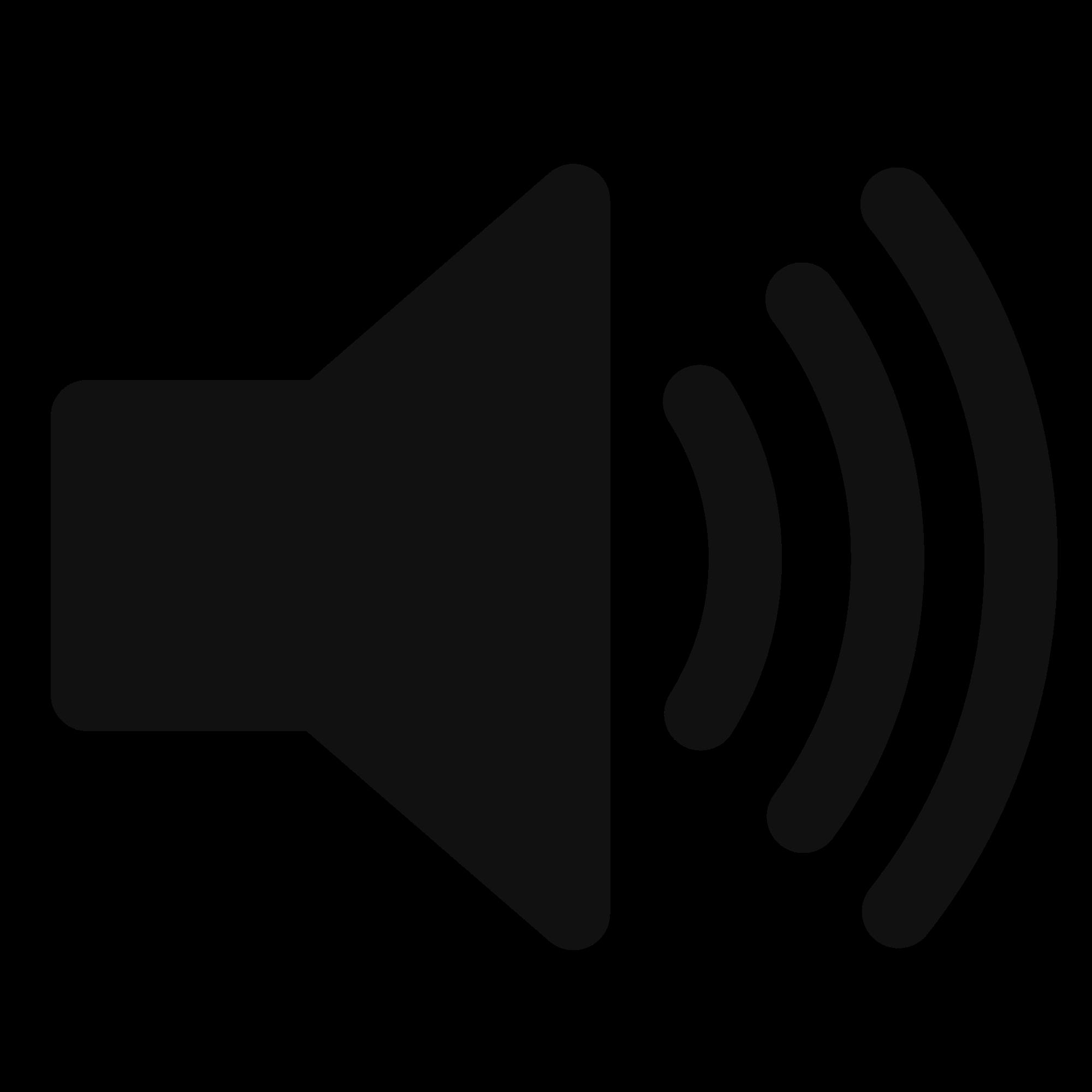 Transparent Speaker Icon #319666.