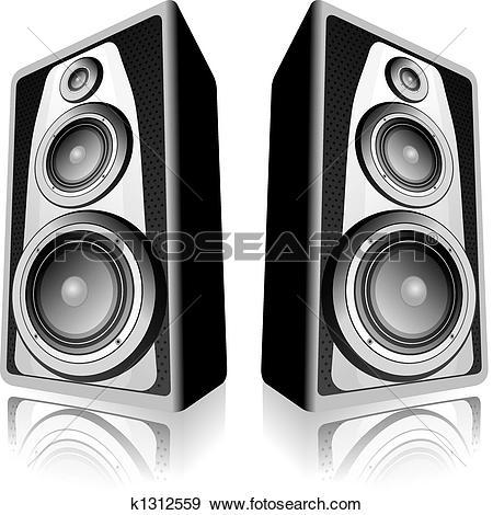 Clip Art of Stereo speaker k12005747.