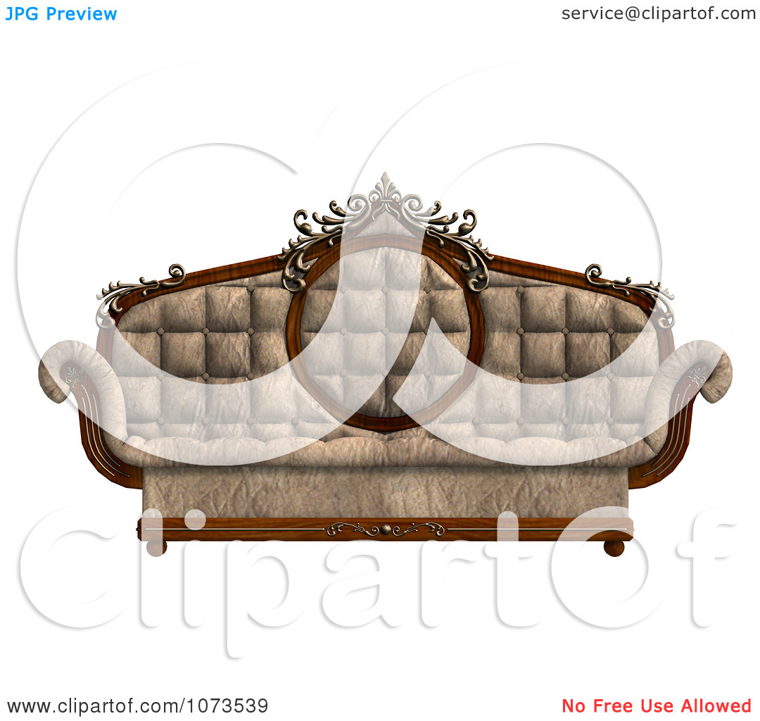 Clipart 3d Louis XV Sofa 2.
