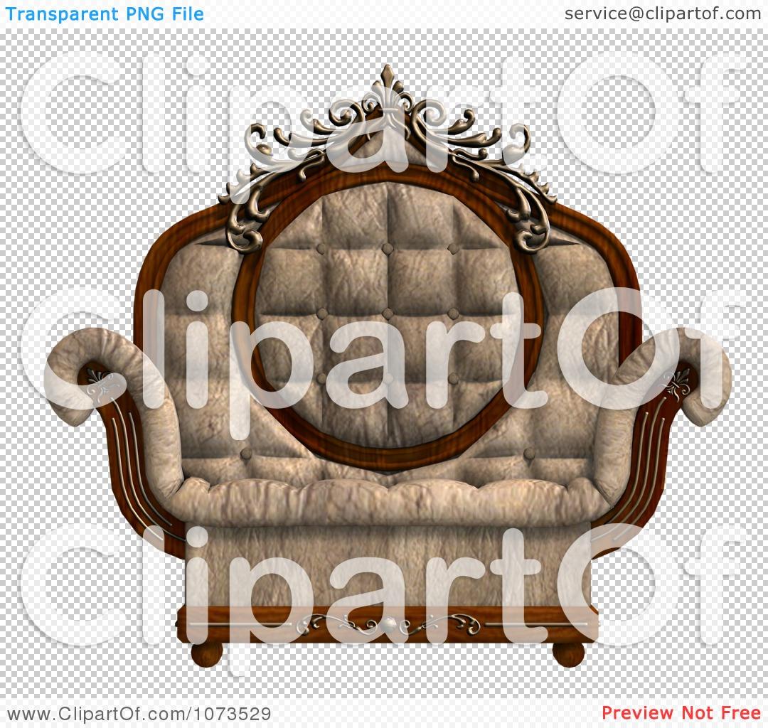 Clipart 3d Louis XV Armchair 2.