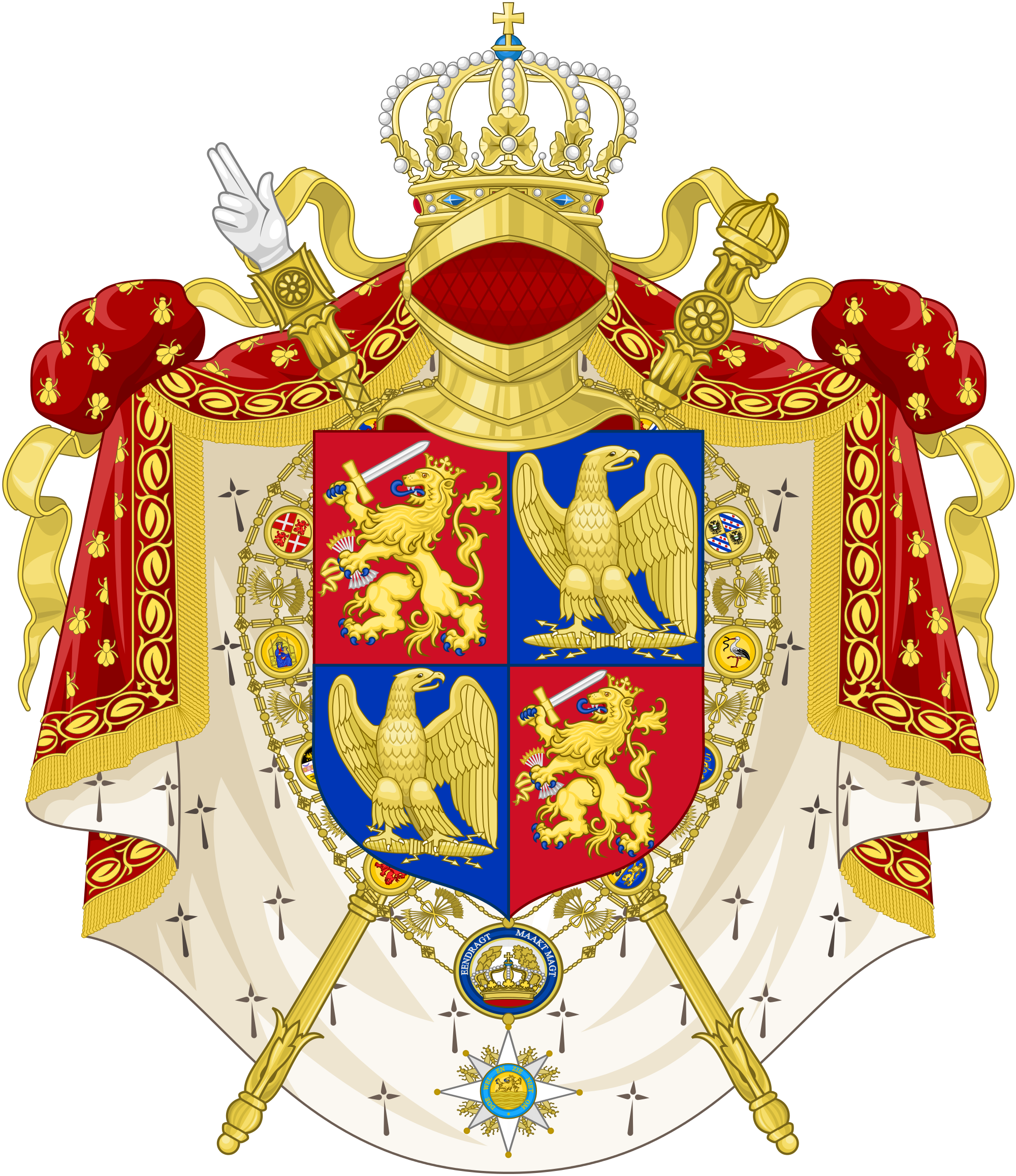 File:Coat of Arms of Louis II as King of Holland.svg.