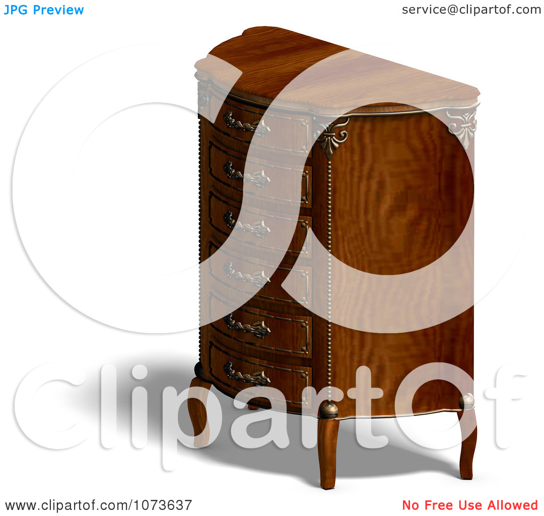 Clipart 3d Louis XV Armchair 2.