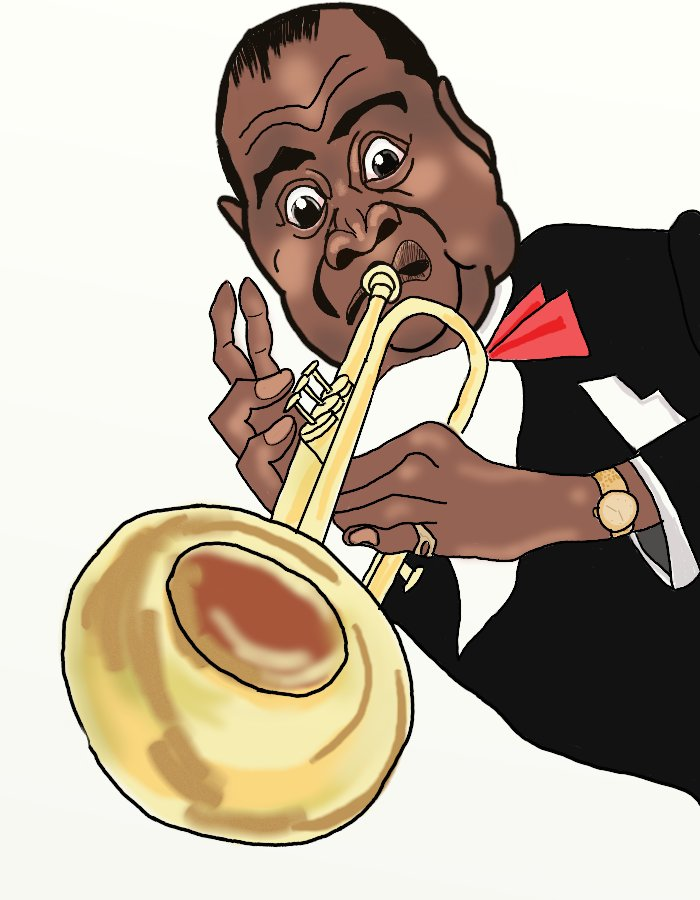 Louis armstrong clipart.