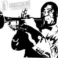Louis Armstrong Stencil.