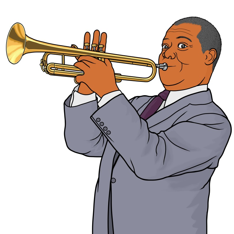 Louis Armstrong (trumpet).