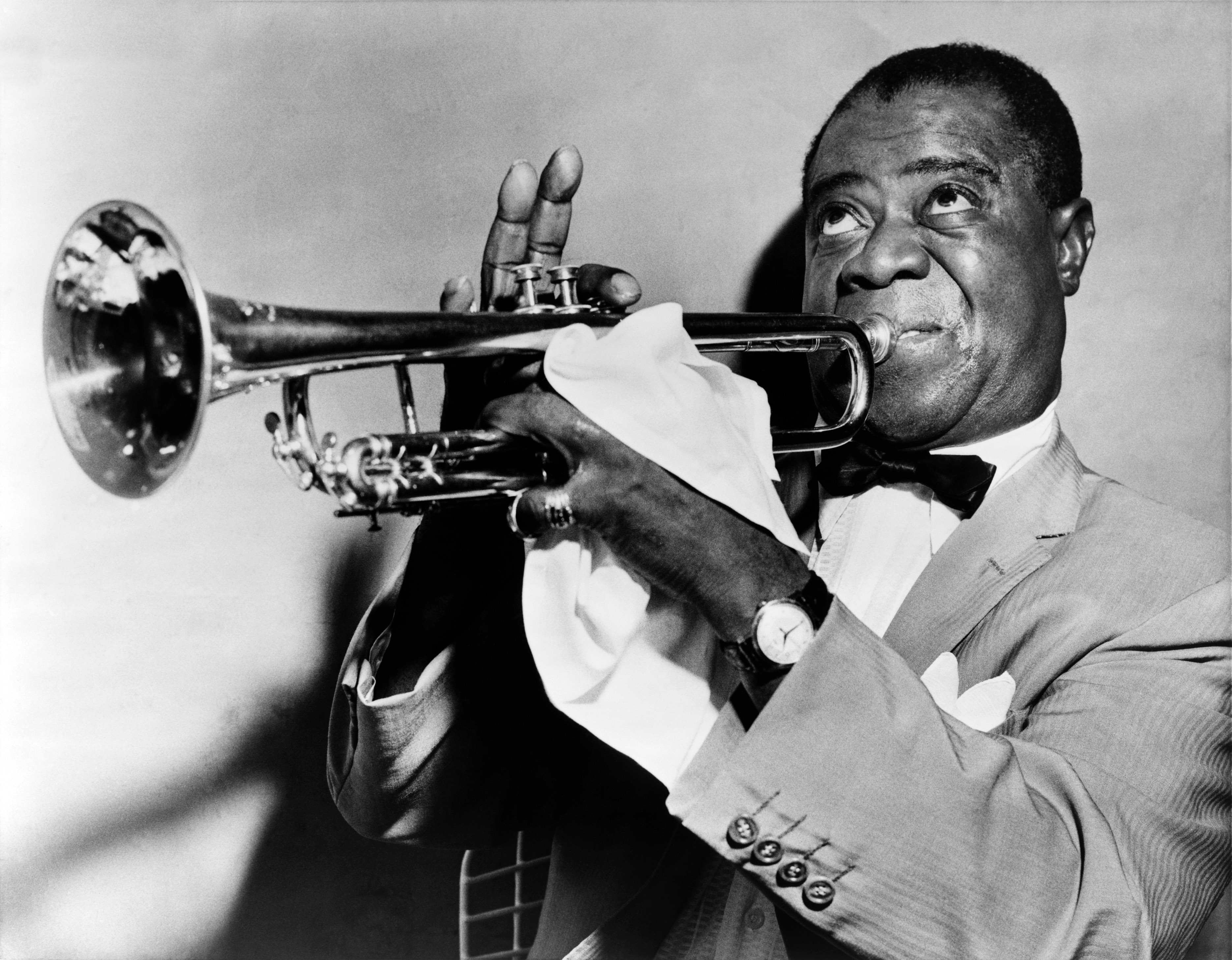 Louis Armstrong, famous Jazz Player from New Orleans.