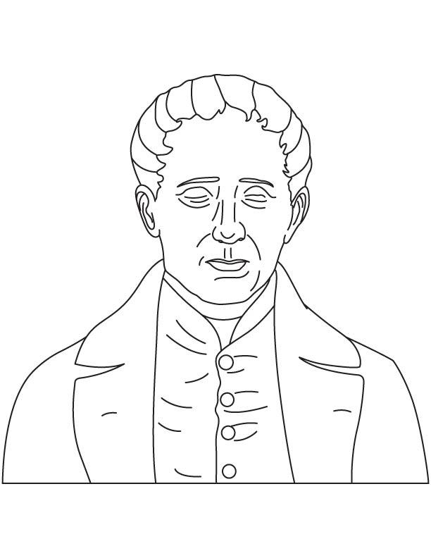 Louis Braille coloring pages.