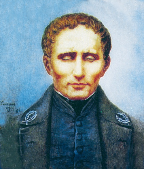 Louis Braille Clipart.