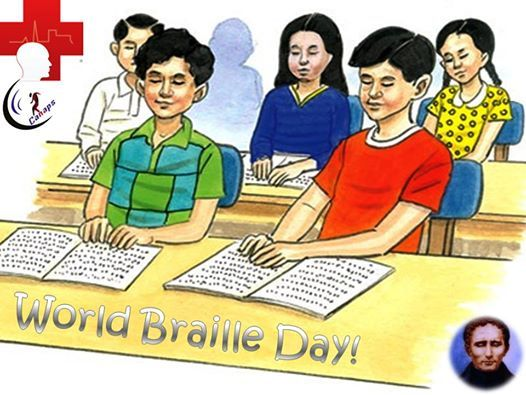 World Braille Day Louis Braille.