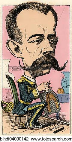 """Stock Photo of """"Henri Amedee de Broglie, Prince de Broglie."""