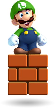 free Mario Bros high res large clip art jpegs.