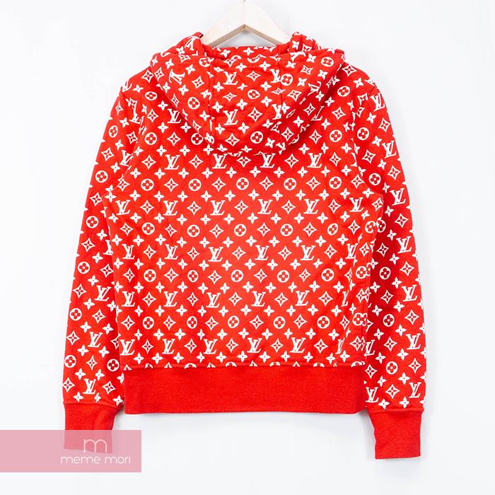 Supreme X Louis Vuitton 2017AW Box Logo Hooded Sweatshirt HDY91WJIU シュプリーム  X Louis Vuitton box logo hooded sweat shirt parka monogram whole pattern.