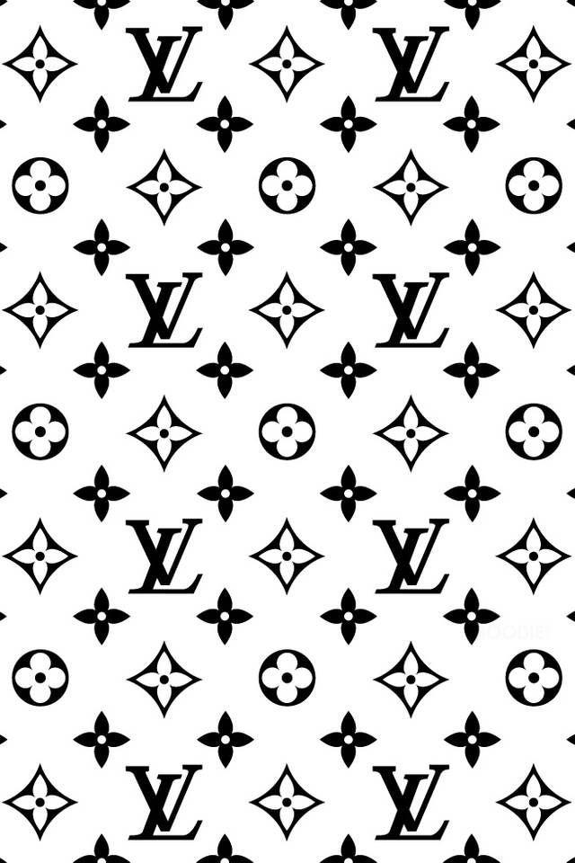 Black & White Louis Vuitton iPhone wallpaper.