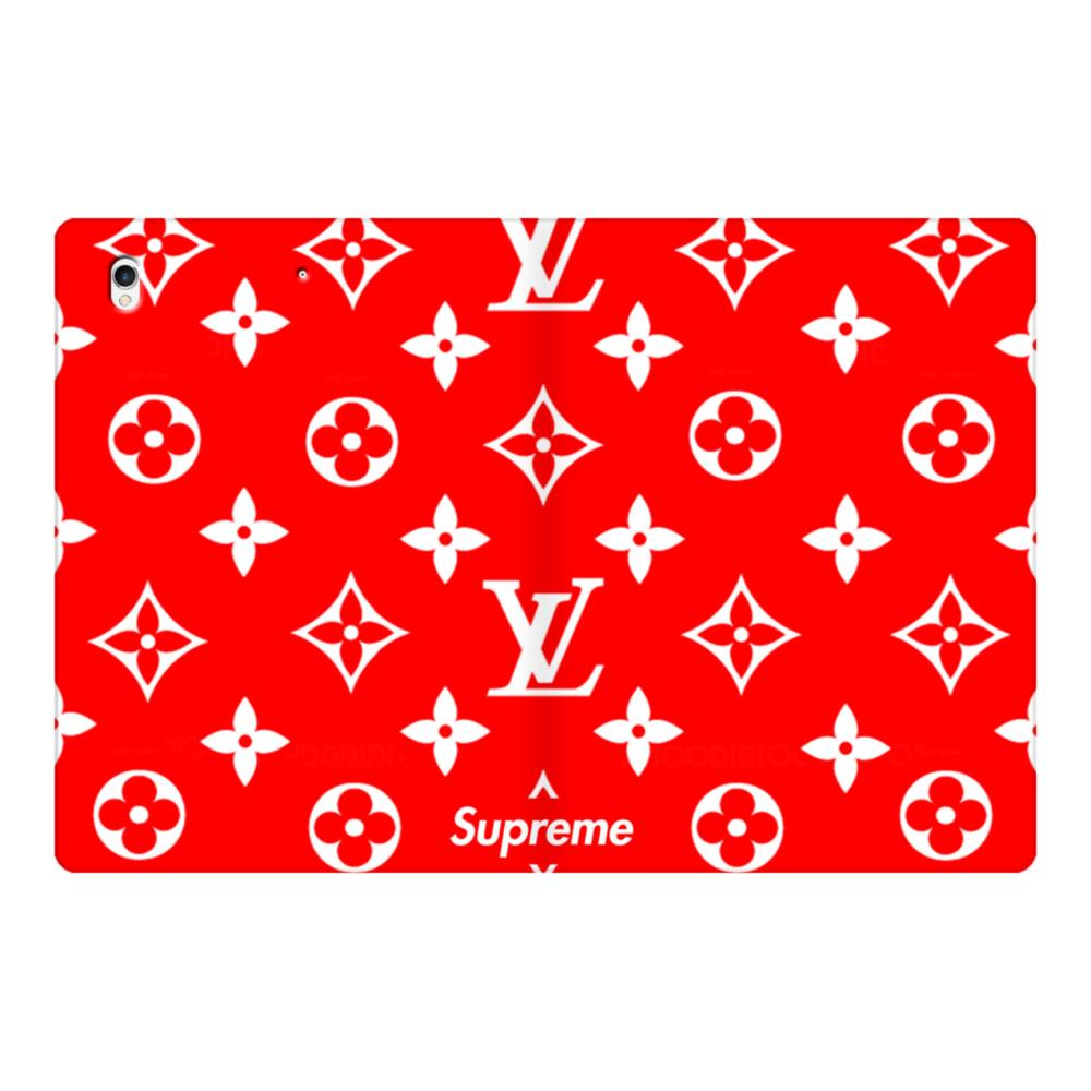 Classic Red Louis Vuitton Monogram x Supreme Logo iPad Pro 12.9 (2017)  Folio Case.