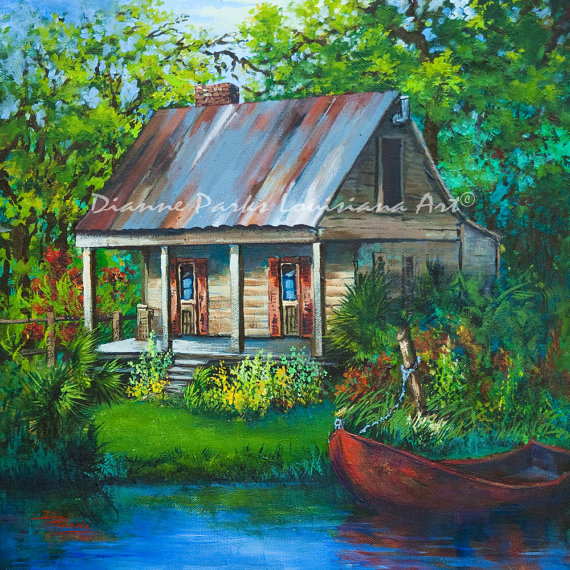 The Bayou Cabin Louisiana Swamp Cabin Fishing Camp on the.