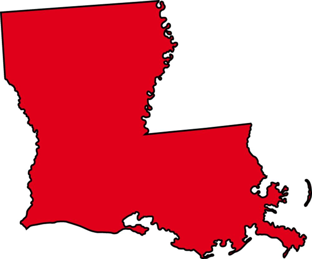 Louisiana Outline Clip Art free image.