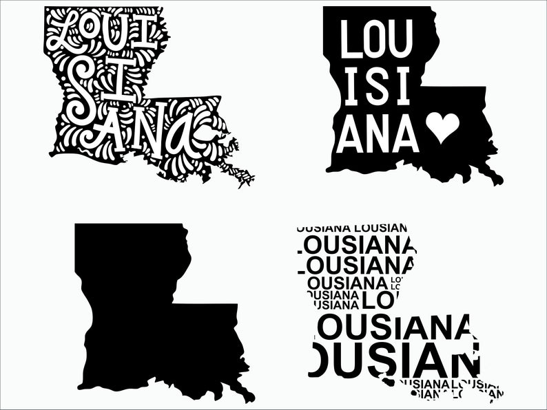 Louisiana SVG/ Louisiana clipart/ Louisiana state svg/ Cricut / printable /  silhouette / vinyl decal / vector files for cutting machines.