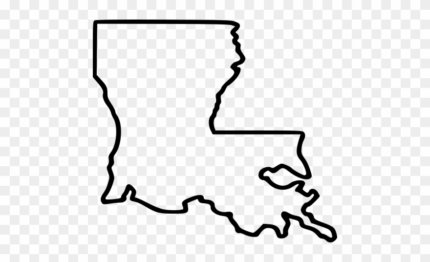 Louisiana State Outline Clipart.