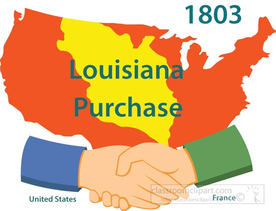 Land acquisition louisiana purchase 1803 clipart » Clipart.