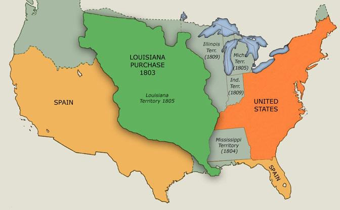 Louisiana Purchase Outline Map louisiana purchase clipart 61.
