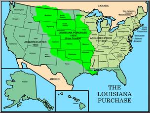 Clip Art: United States History: Louisiana Purchase Color I.