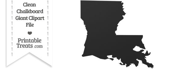 Clean Chalkboard Giant Louisiana State Clipart — Printable.