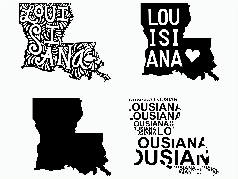 Louisiana SVG/ Louisiana clipart/ Louisiana state svg/ Cricut / printable /  silhouette / vinyl decal / vector files for cutting machines.