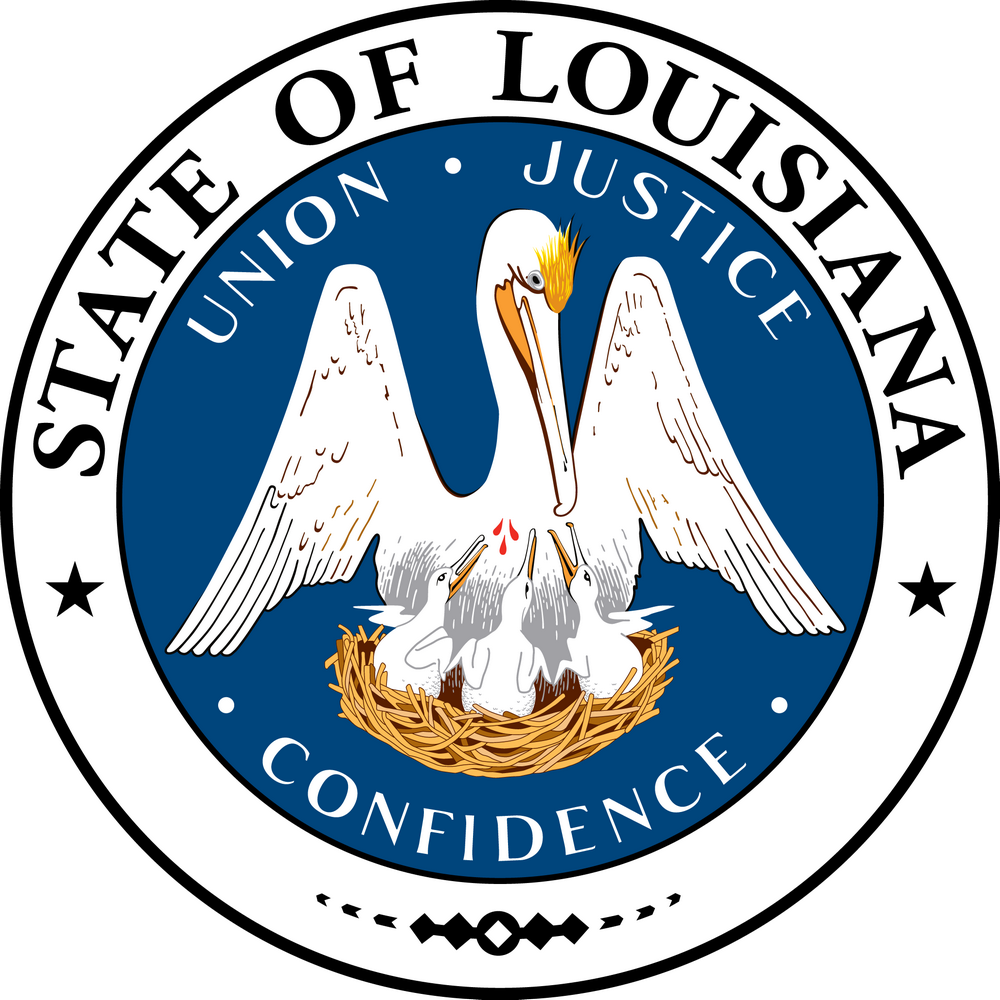 Louisiana Flags Emblems Symbols Outline Maps clipart free image.