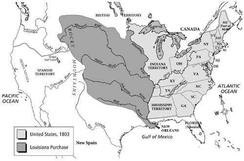 Louisianna Territory Map Clipart.