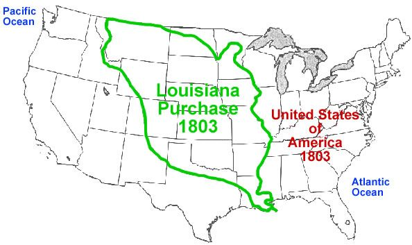 Louisiana Purchase Map Worksheet