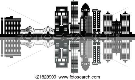 Clip Art of louisville skyline k21828909.